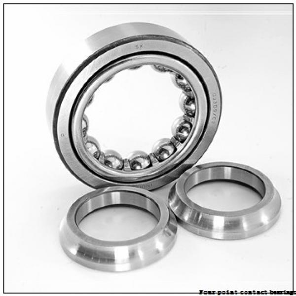 85 mm x 180 mm x 41 mm  FAG QJ317-N2-MPA Four-Point Contact Bearings #2 image
